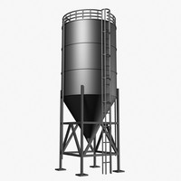 3ds silo grain