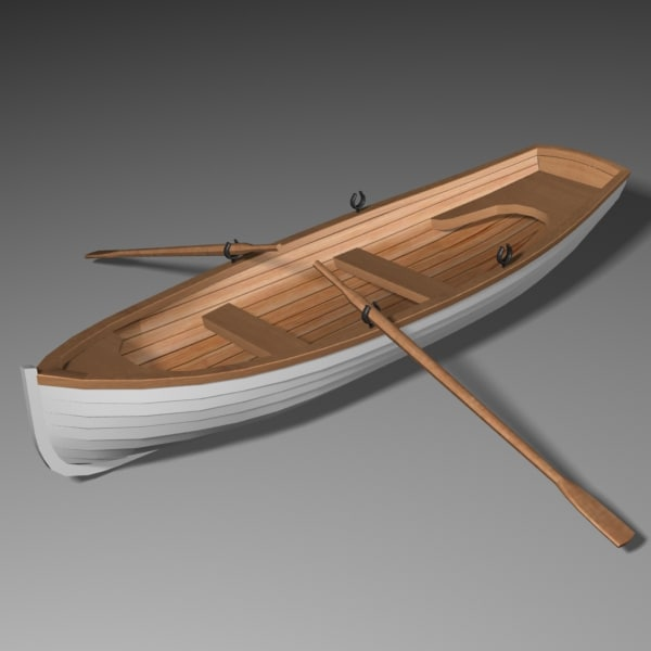 3ds max whitehall row boat