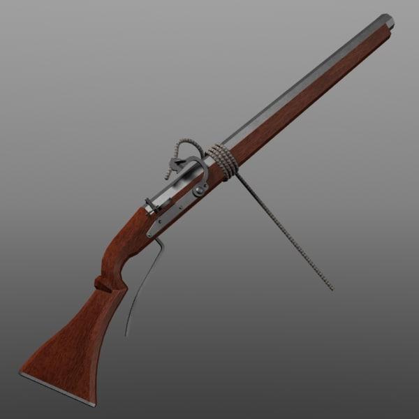 3d Gun Image 3d Home Architect: Matchlock Arquebus 3d Model