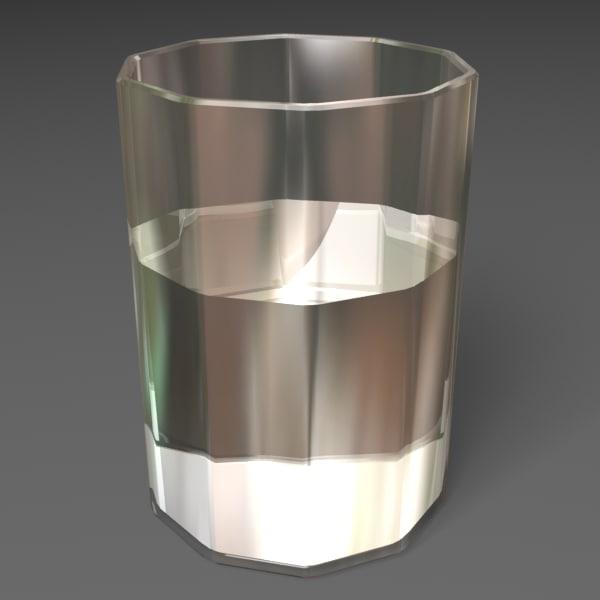 glass water 3d model