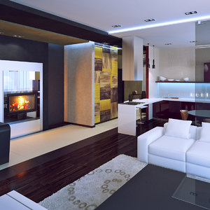interior settings 3d max