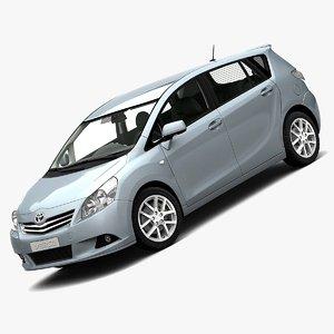 2010 toyota corolla verso 3d model