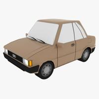 audi 80 b2 car 3d model