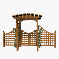 oriental arbor 3d model