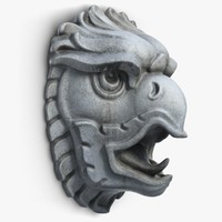 Griffon Head Sculpture