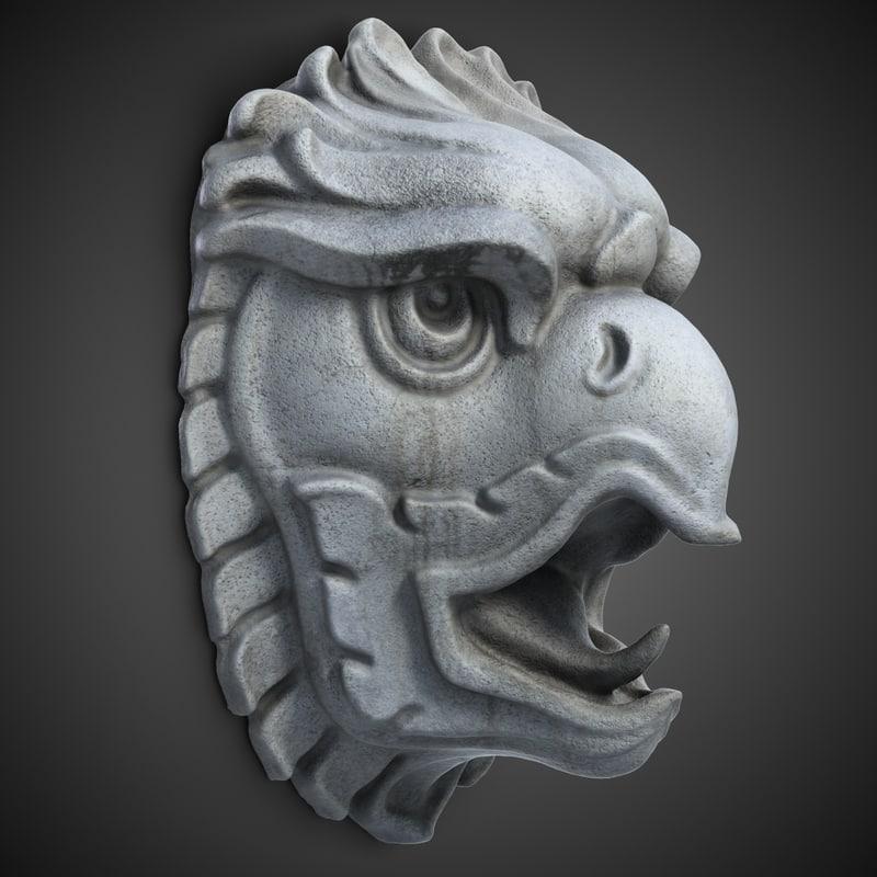 griffon head sculpture max