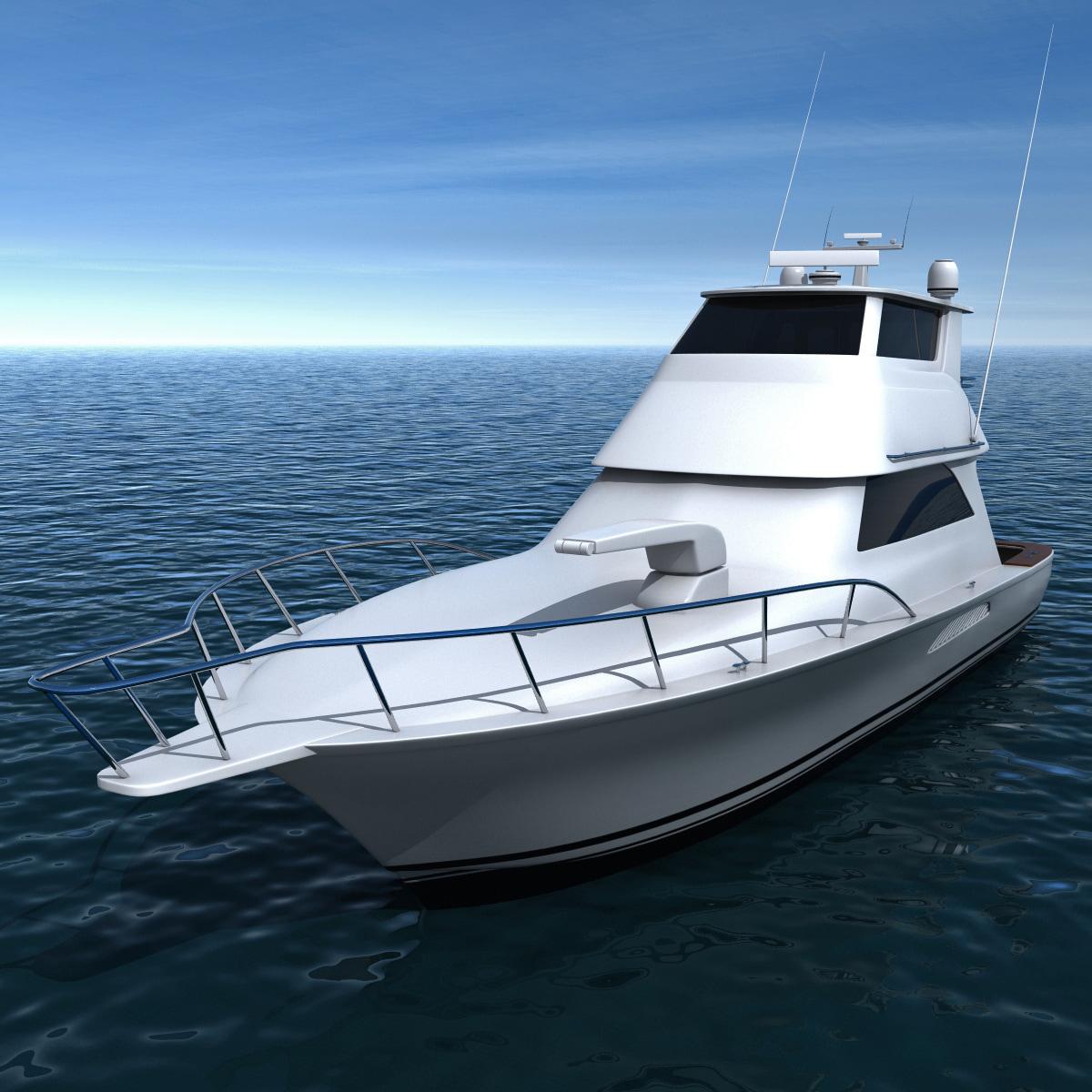 motor yacht priority 3d model