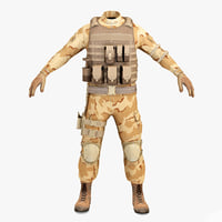 sas soldier clothes 2 c4d