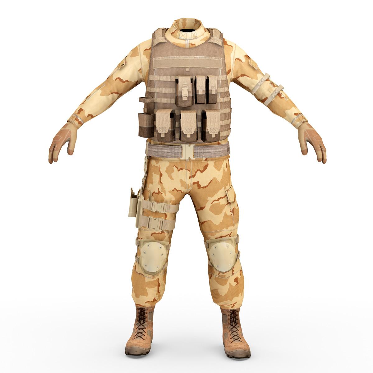 sas soldier clothes 2 c4d
