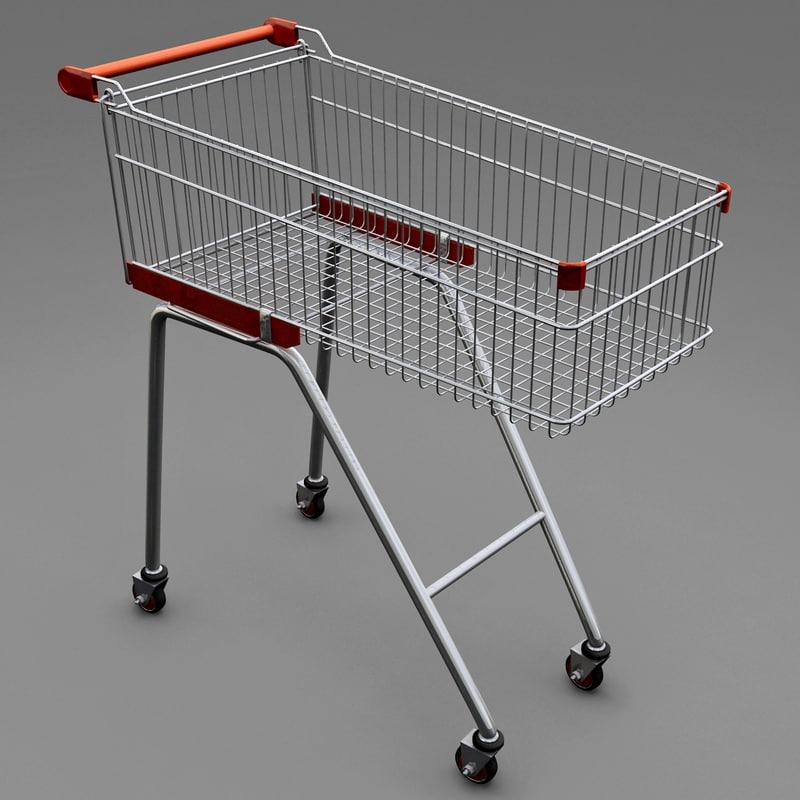 supermarket trolley v2 3d max