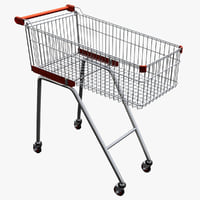 supermarket trolley v2 3d max