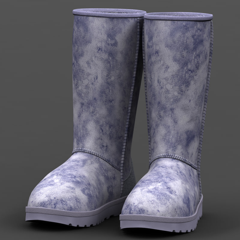 3d model ugg classic tall boots