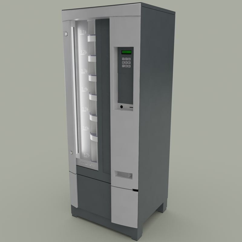 3d model vending machine 4