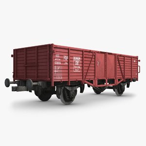 cargo train wagon 3d fbx