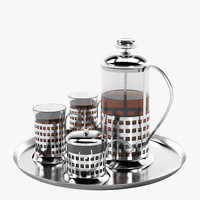 French Press Tea Set
