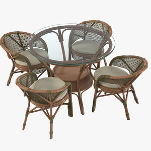 3d garden furniture set