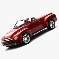 chevrolet ssr cabriolet 3d model