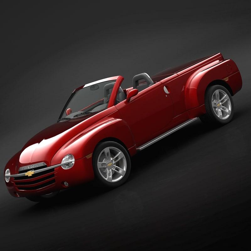 chevrolet ssr cabriolet 3d model
