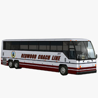 coach tour bus 3d model