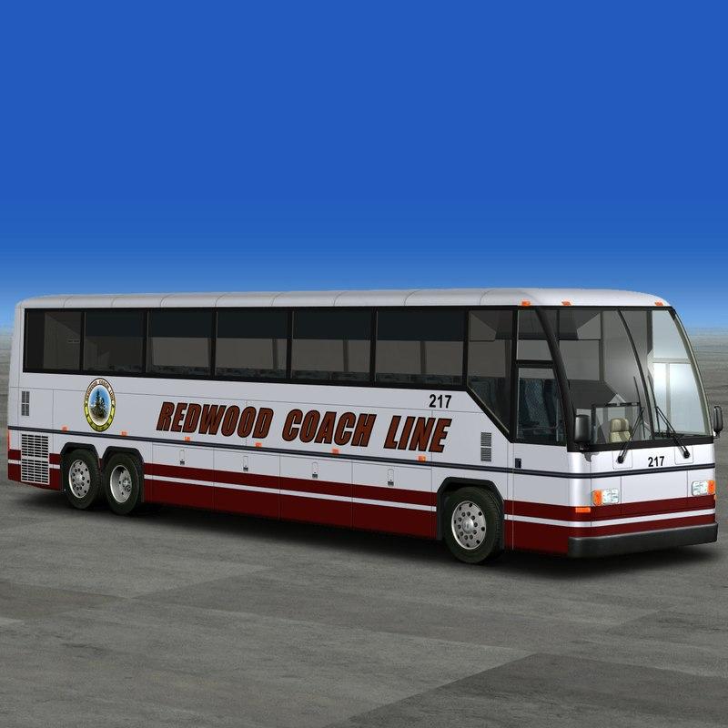 coach tour bus 3d model