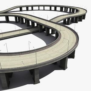 highway freeway 3d model