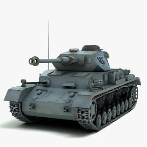 german panzer iv tank 3d model