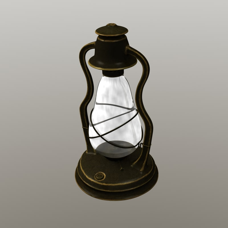 antique oil lantern 3d model