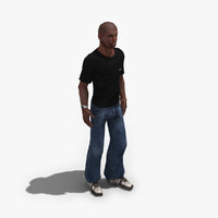 3d model male civilian rigged