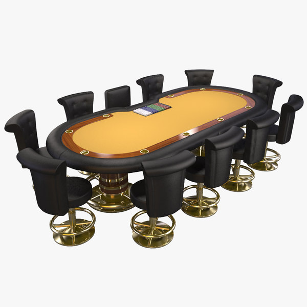 3ds max poker table
