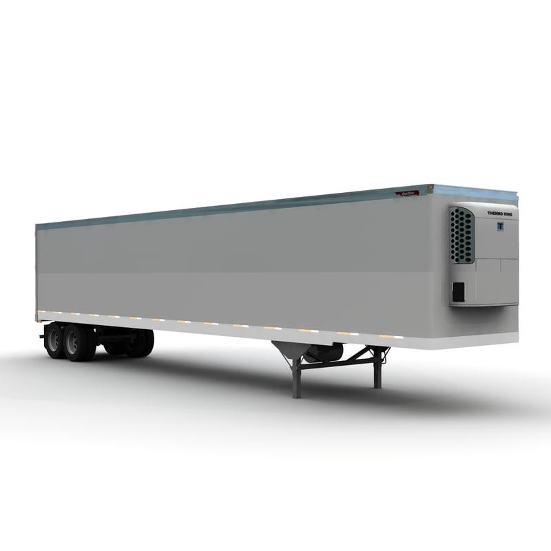 3d 53ft trailer truck