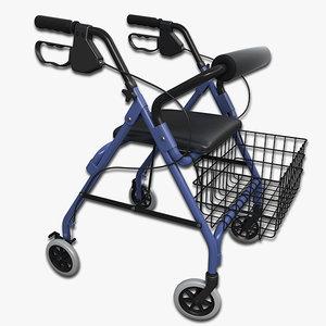 walker wheels 3d model