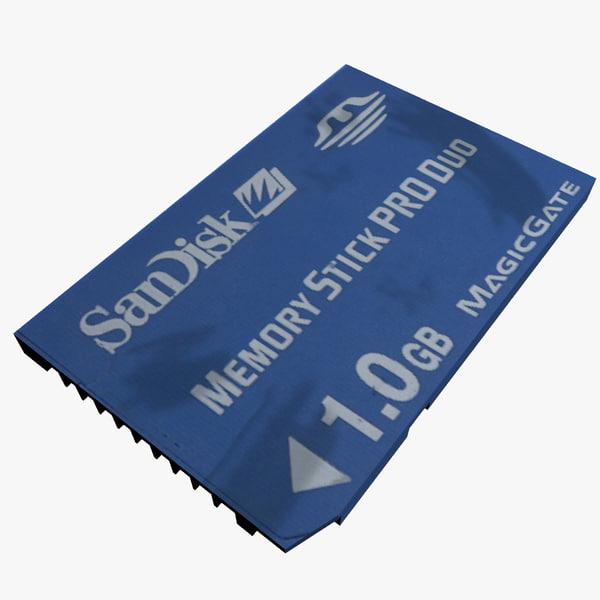 memory stick pro duo 3d model