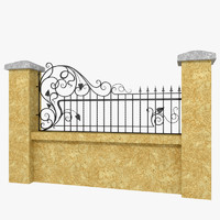 Wrought Iron Fence 4