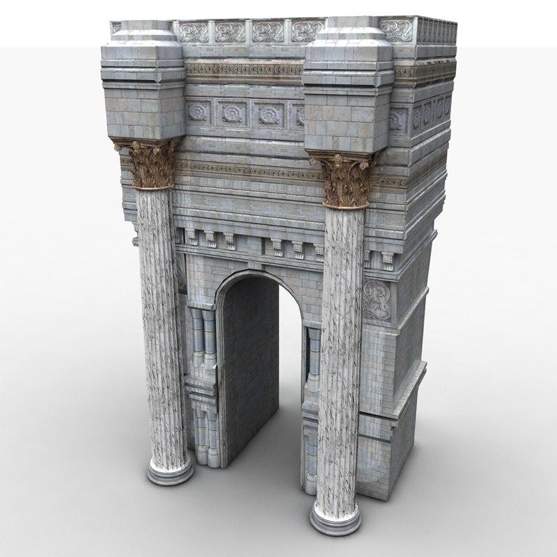 3dsmax structure decorative