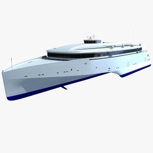 102 speed trimaran ferry 3d max