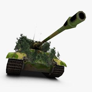 king tiger tank 3d max