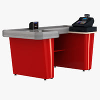 3d model cash counter 8