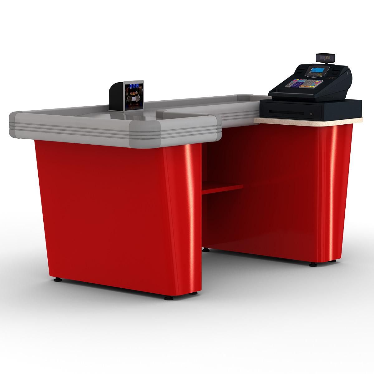 3d model cash counter 8