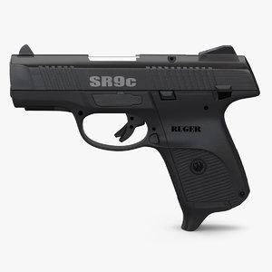 3d c4d compact ruger pistol