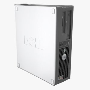 3d dell optiplex desktop computer model
