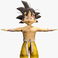 goku cartoon 3d obj