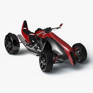 3d concept performance sports car model