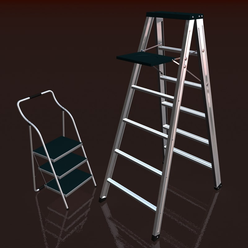 3d ladders step model