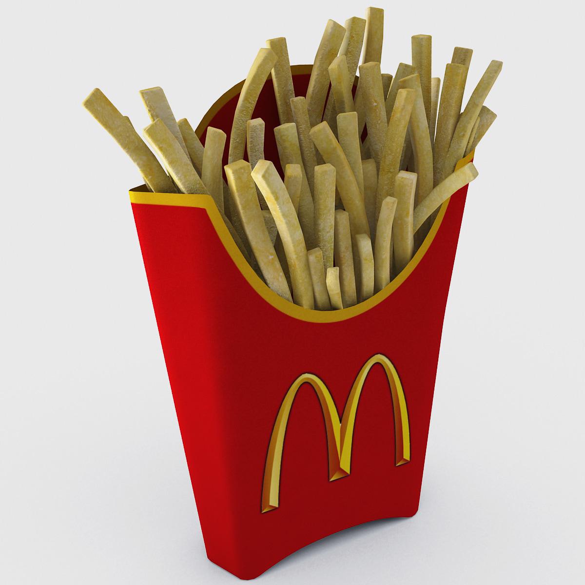 mcdonald s french fries 3d obj