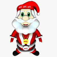 Father Christmas Cute with Bones