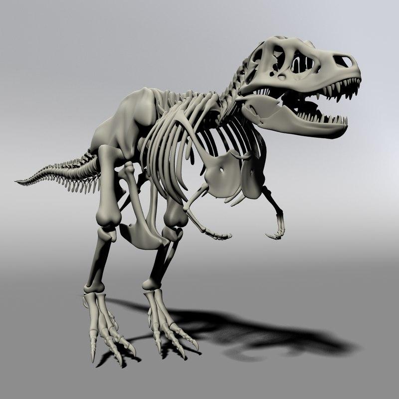 rex skeleton 3d obj