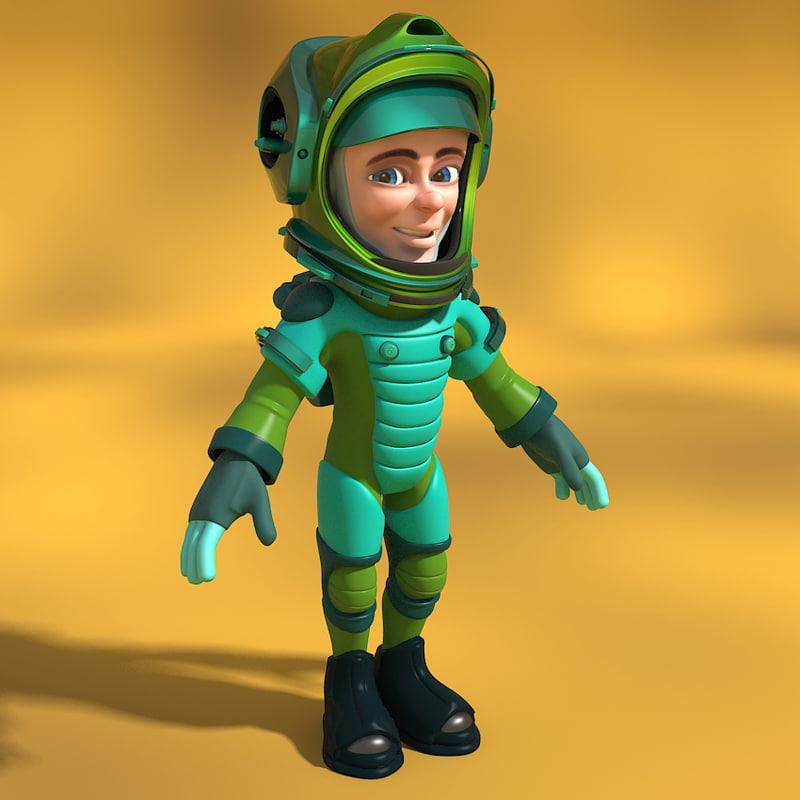 3d model cartoon astronaut