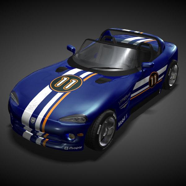 dodge viper rt 3d model