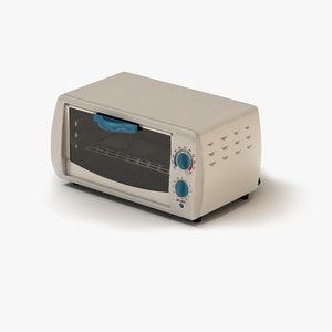 3d toaster oven white model