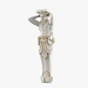 atlas sculpture 3d model